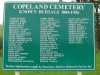 List of Historic burials at Copeland Historic Cemetery.