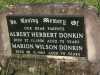 Donkin - Albert Herbert and Marion Wilson