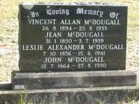 McDougall - Vincent Allan, Jean, Leslie Alexander and John