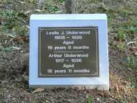 Underwood - Leslie J and Arthur