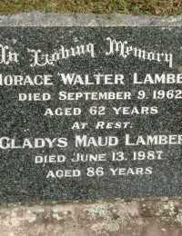 Lambert - Horace Walter and Gladys Maud