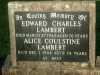 Lambert - Edward Charles and Alice Coulstine