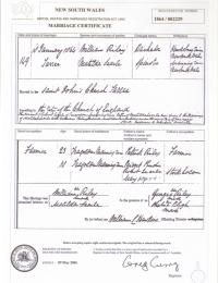 Marriage Certificate - Reid - William and Searle - Matilda