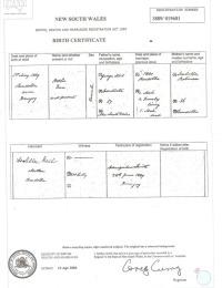 Birth Certificate - Neil - Ottlie Eva