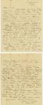 Letter written by Stuart Levick's elder sister Charlotte.