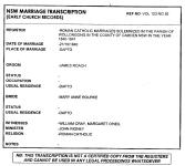 Marriage Certificate - Roach - James and Rourke - Mary Anne