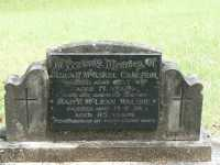 Cameron - Allan McAskel and Walshe - Mary McLean