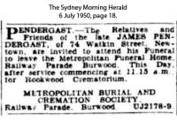 Pendergast - James - Funeral Notice
