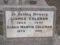Coleman - James and Sarah Martin