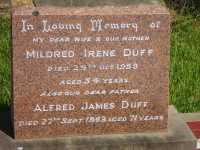 Duff - Mildred Irene and Alfred James