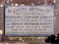 Abbott - Margaret Caroline and Bruce Norman