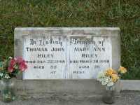 Riley - Thomas John and Mary Ann