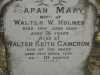 Holmes - Sarah Mary and Walter Keith
