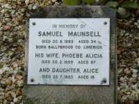 Maunsell - Samuel, Phoebe Alicia and Alice