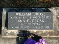 Cross - William and Annie