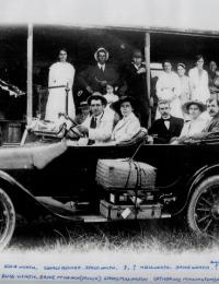 Various family members highlighting Dodge car