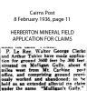 Clerke - Walter George & Anors - Mineral Claim