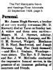 Stewart - James Hugh - Death Notice