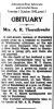 Thornthwaite - Mrs. A R - Obituary