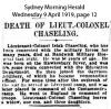 Chaseling - Isiah - Obituary