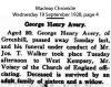 Avery - George Henry - Death Notice
